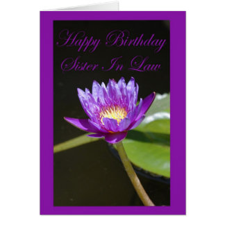 Birthday Sister In Law Card