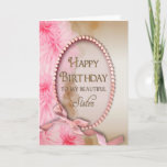 "Birthday Sister - Pink Pearls - Floral Card<br><div class=""desc"">A dainty and sweet card for that special sister.</div>"