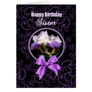 Birthday - Sister - Purple Iris Card