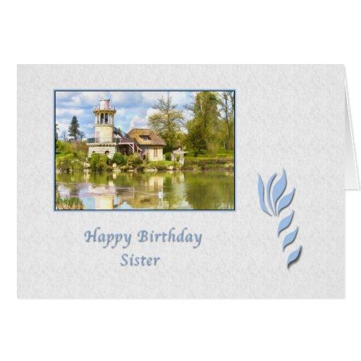 Birthday, Sister, Versailles, France, Card