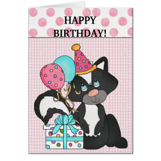 Birthday Skunk card