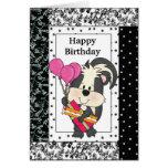 Birthday Skunk greeting card