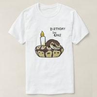 Birthday Snake Cute Ball Python Drawing T-shirt