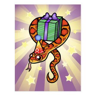 Birthday Snake Postcard