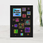 """BIRTHDAY - SON - ABSTRACT CARD<br><div class=""""desc"""">UNIQUE BIRTHDAY CARD FOR THAT SPECIAL SON</div>"""