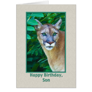 Birthday, Son, Cougar in the Jungle Card