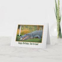 Birthday, Son-in-law, Golf, Alligator Card