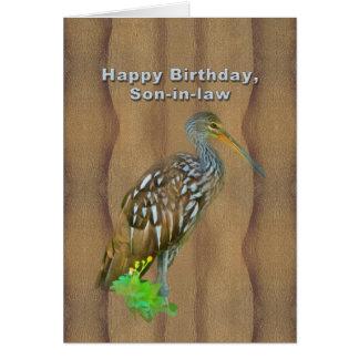 Birthday, Son-in-law, Limpkin Marsh Bird Card