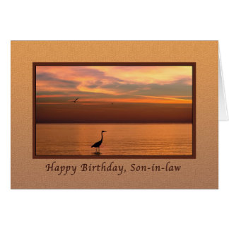 Birthday, Son-in-law, Ocean View at Sunset Card