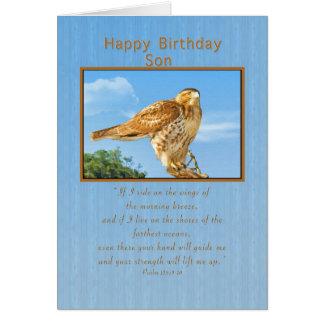 Birthday, Son,  Rough-legged Hawk Card