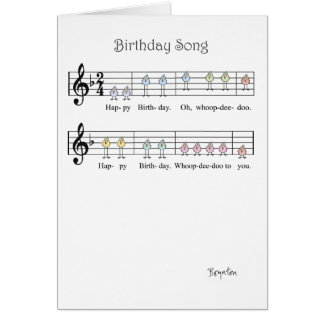 BIRTHDAY SONG CARD