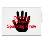 Birthday Spanking Crew Cards