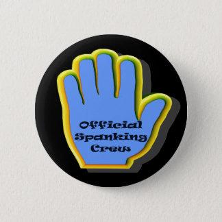 Birthday Spanking Crew Party Button