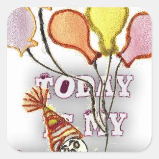 Birthday Square Sticker