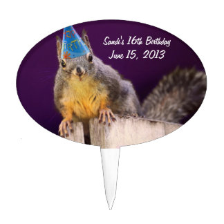 Birthday Squirrel Cake Topper