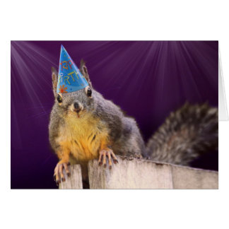Birthday Squirrel Photo Card