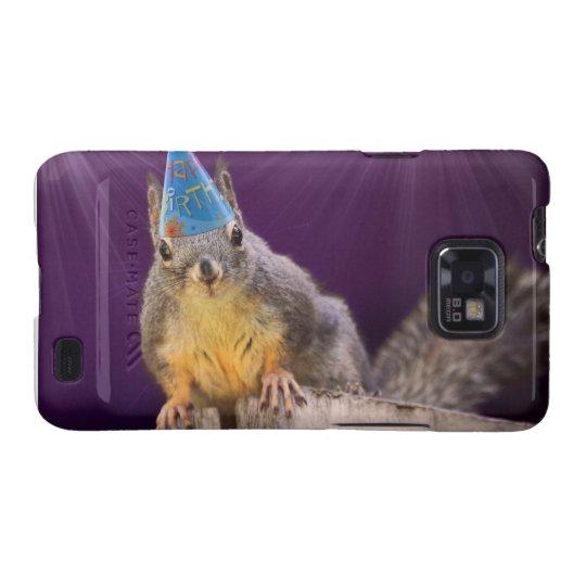 Birthday Squirrel Photo Galaxy SII Cover