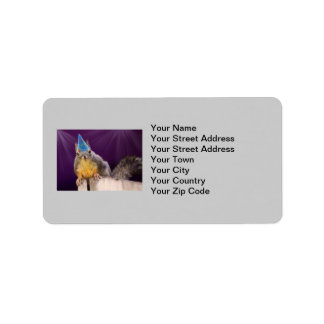 Birthday Squirrel Photo Label