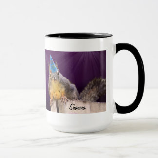 Birthday Squirrel Photo Mug