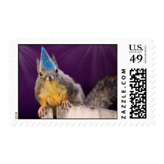 Birthday Squirrel Photo Postage