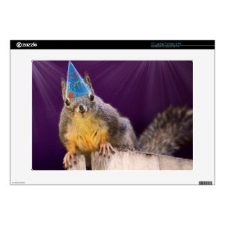 "Birthday Squirrel Photo 15"" Laptop Decal"