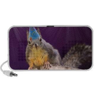 Birthday Squirrel Photo Laptop Speakers