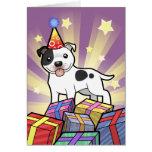 Birthday Staffordshire Bull Terrier Greeting Card