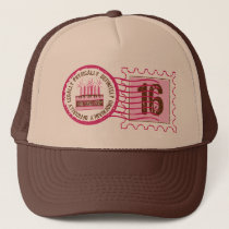Birthday Stamp 16 Hat