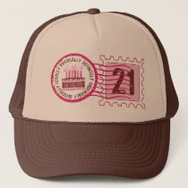 Birthday Stamp 21  Hat