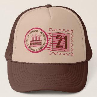 Birthday Stamp 21  Hat