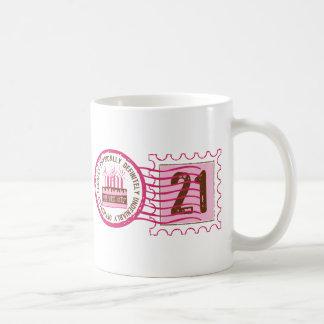 Birthday Stamp 21 Mug
