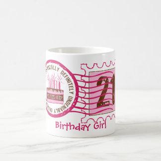 Birthday Stamp 21 Mug Custom