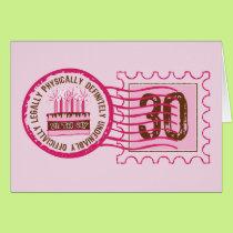 Birthday Stamp 30 Card