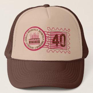 Birthday Stamp 40 Hat