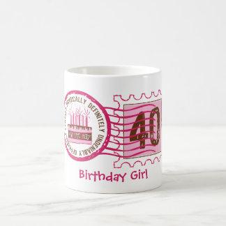 Birthday Stamp 40 Mug Custom