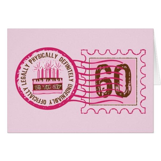 Birthday Stamp 60 Card