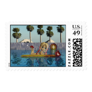 Birthday stamp, Moonies Cutie Pie pool collection Postage