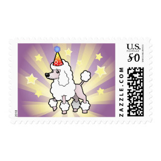 Birthday Standard/Miniature/Toy Poodle (show cut) Postage