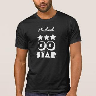 Birthday Star Any Year Custom Name V01 Black White T-Shirt