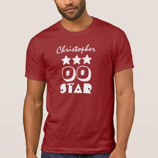 Birthday Star Any Year Custom Name V02 Red White T-Shirt