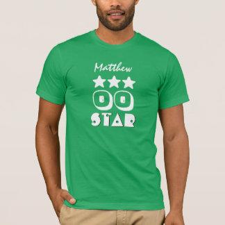 Birthday Star Any Year Custom Name V03 Green White T-Shirt