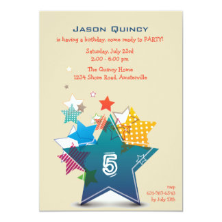 Birthday Star Invitation