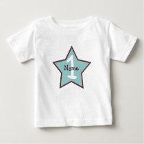 Birthday Star Personalized 1st Birthday Shirt