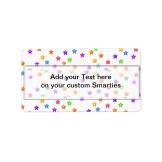 Birthday Stars Smartie Candy wrappers Labels