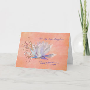 Birthday Step Daughter Water Lily Religious Card
