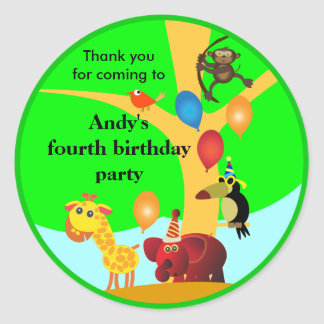 Birthday stickers: Jungle Party