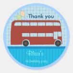 Birthday Stickers: London Bus