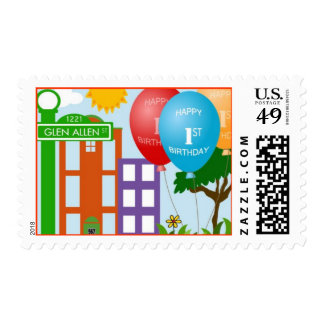 Birthday Street Stamp