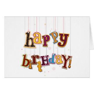 Birthday Strings Greeting Card
