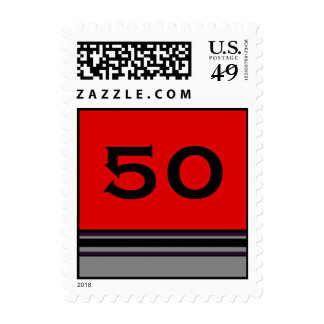 Birthday stripes postage stamps